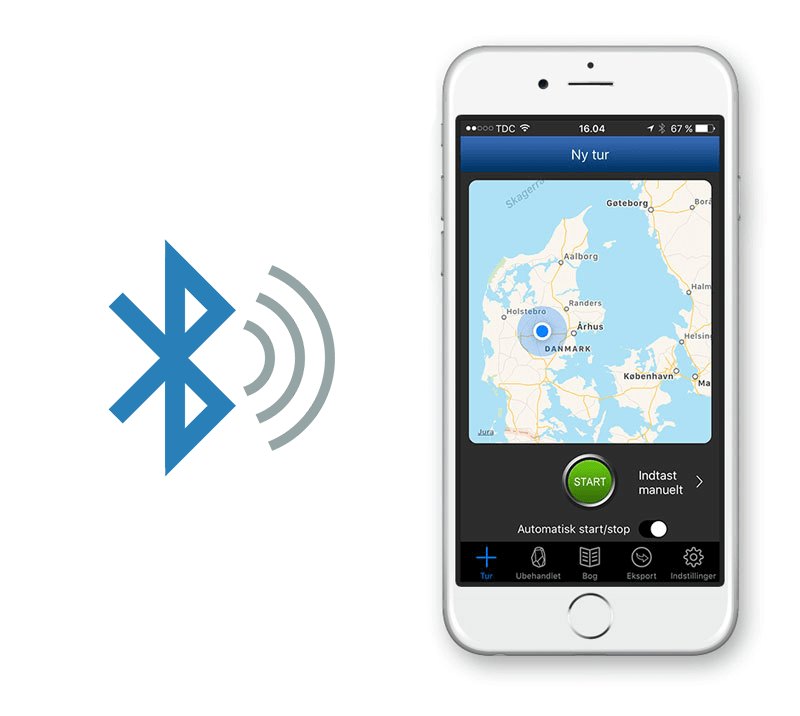 Mileage Book automatisk start-stop via Bluetooth