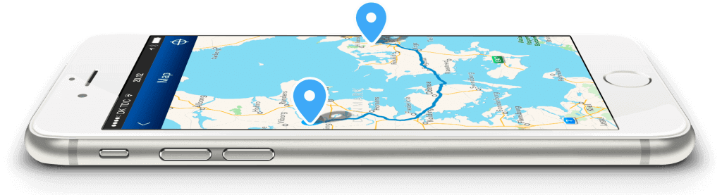 Mileage Book route on laying phone